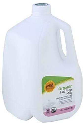 Wild Harvest Organic, Fat Free Milk - 1 gl