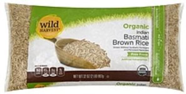Wild Harvest Rice Organic, Brown, Basmati, Indian
