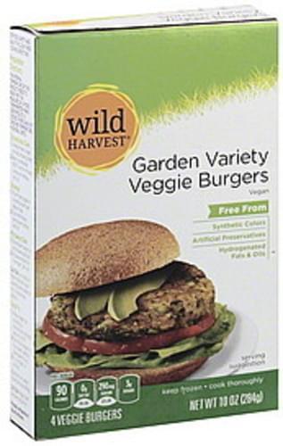 Wild Harvest Garden Variety Veggie Burgers - 4 ea