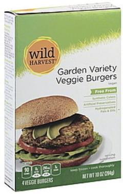 Wild Harvest Veggie Burgers Garden Variety