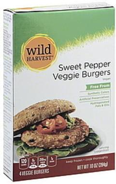 Wild Harvest Veggie Burgers Sweet Pepper