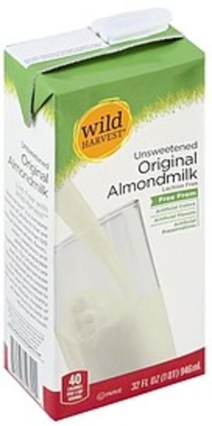 Wild Harvest Original, Unsweetened Almondmilk - 32 oz