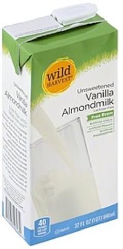 Wild Harvest Almondmilk Vanilla, Unsweetened