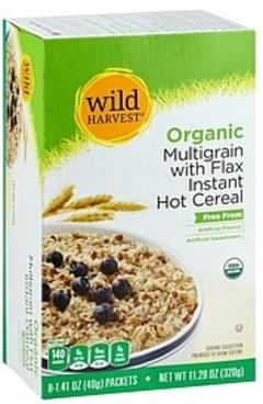 Wild Harvest Hot Cereal Instant, Organic, Multigrain with Flax