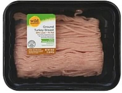 Wild Harvest Turkey Ground, 99% Lean/1% Fat, Breast