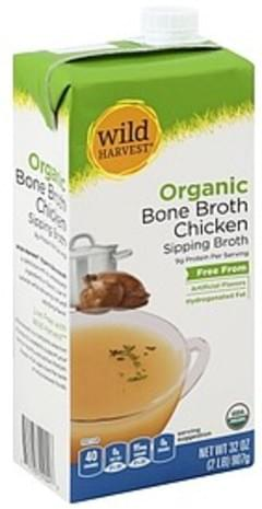 Wild Harvest Bone Broth Organic, Chicken