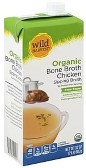 Wild Harvest Organic, Chicken Bone Broth - 32 oz