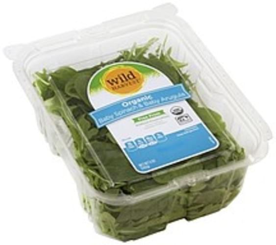 Wild Harvest Baby Spinach & Baby Arugula - 5 oz