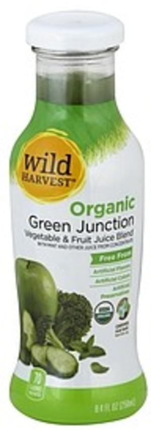 Wild Harvest Organic, Green Junction Vegetable & Fruit Juice Blend - 8.4 oz