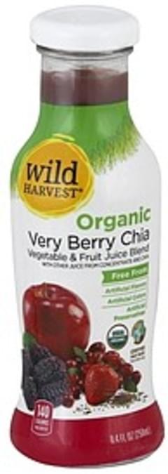 Wild Harvest Vegetable & Fruit Juice Blend Organic, Very Berry Chia