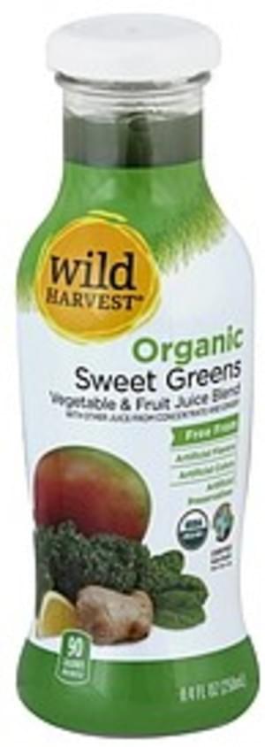 Wild Harvest Organic, Sweet Greens Vegetable & Fruit Juice Blend - 8.4 oz