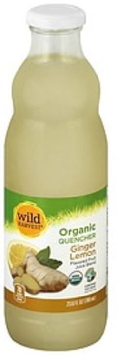 Wild Harvest Fruit Juice Blend Organic, Ginger Lemon Flavored