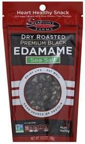 Seapoint Farms Edamame Dry Roasted, Sea Salt, Premium Black
