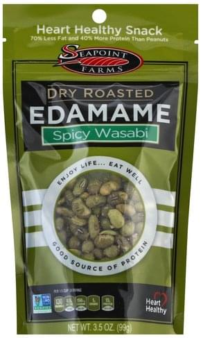 Seapoint Farms Dry Roasted, Spicy Wasabi Edamame - 3.5 oz