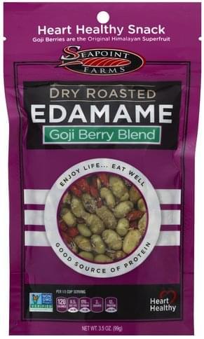Seapoint Farms Dry Roasted, Goji Berry Blend Edamame - 3.5 oz