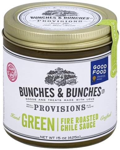 Bunches & Bunches Provisions Fire Roasted, Green Chile Sauce - 15 oz