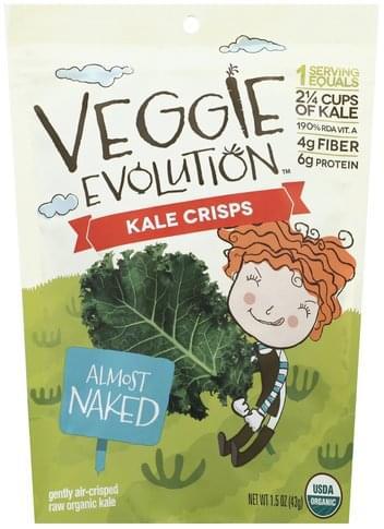 Veggie Evolution Almost Naked Kale Crisps - 1.5 oz