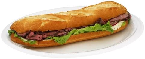 Chef Express Roast Beef With Lacey Swiss Submarine Sandwich - 1 ea
