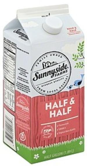 Sunnyside Farms Half & Half - 0.5 gl