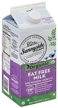 Sunnyside Farms Milk Organic, Fat Free