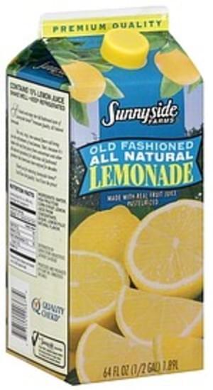 Sunnyside Farms Lemonade - 64 oz, Nutrition Information   Innit