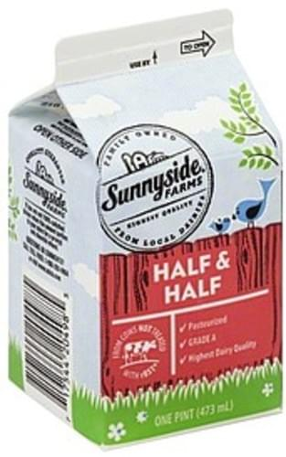 Sunnyside Farms Half & Half - 1 pt