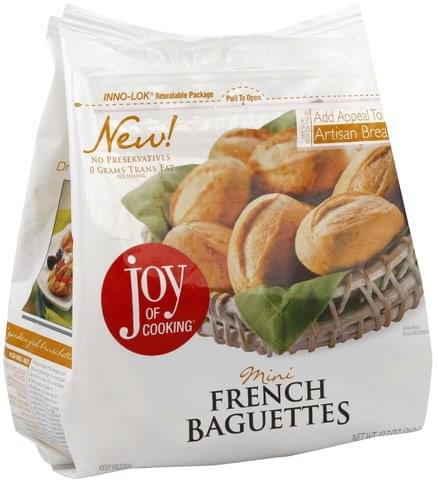 Joy of Cooking Mini French Baguettes - 12.7 oz