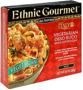 Ethnic Gourmet Vegetarian Osso Buco with Fettuccini, Mild