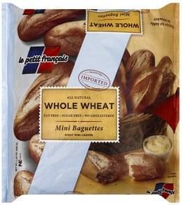 Petit Francais Baguettes Mini, Whole Wheat
