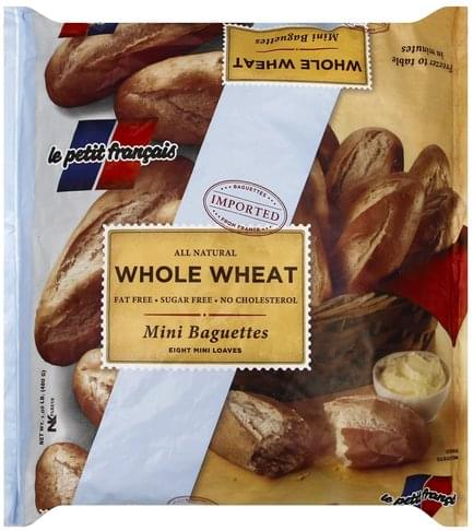 Petit Francais Mini, Whole Wheat Baguettes - 8 ea