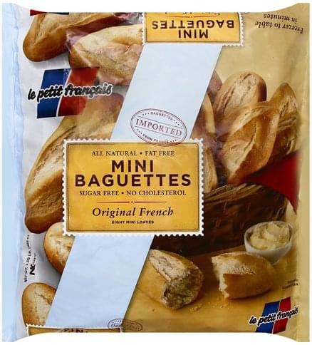 Petit Francais Mini, Original French Baguettes - 8 ea