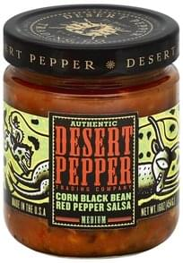 Desert Pepper Salsa Corn Black Bean Red Pepper, Medium