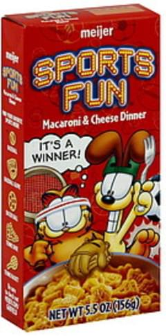 Meijer Macaroni & Cheese Dinner Sports Fun