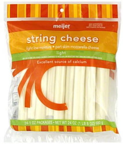 Meijer Light String Cheese - 24 ea