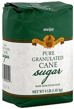 Meijer Sugar Pure Granulated, Cane