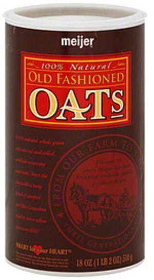 Meijer Old Fashioned Oats - 18 oz