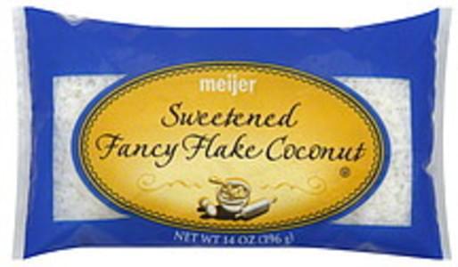Meijer Sweetened Fancy Flake Coconut