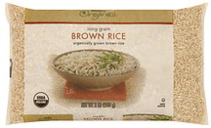 Meijer Organics Long Grain Brown Rice - 32 oz