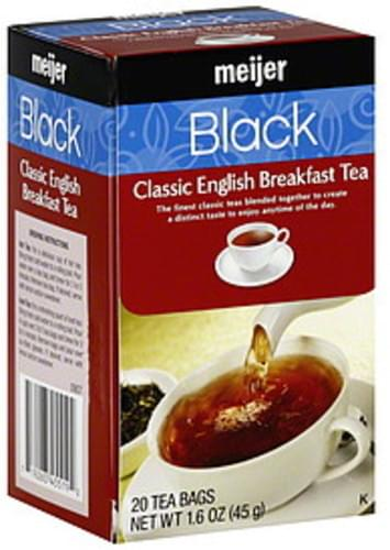 Meijer Classic English Breakfast Black Tea - 20 ea