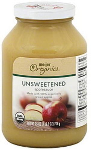 Meijer Organics Unsweetened Applesauce - 25 oz