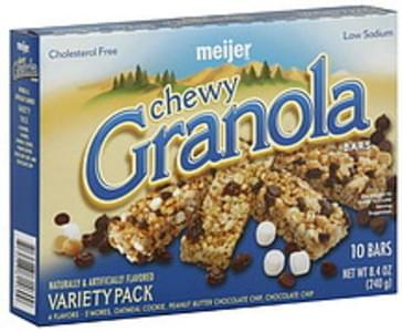 Meijer Granola Bars Chewy, Variety Pack
