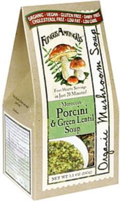 FungusAmongUs Organic Mushroom Soup Porcini & Green Lentil, Morocan
