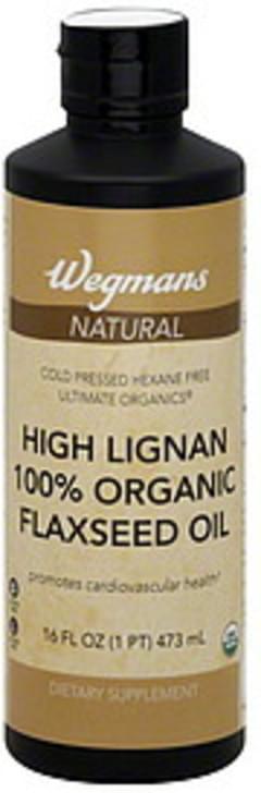 Wegmans Flaxseed Oil Natural, 100% Organic, High Lignan