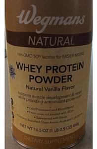 Wegmans Whey Protein Powder Natural, Vanilla Flavor