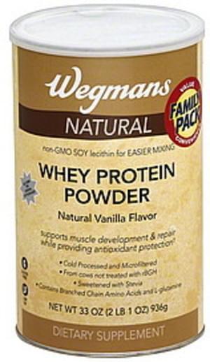 Wegmans Natural, Vanilla Flavor, FAMILY PACK Whey Protein Powder - 33 oz