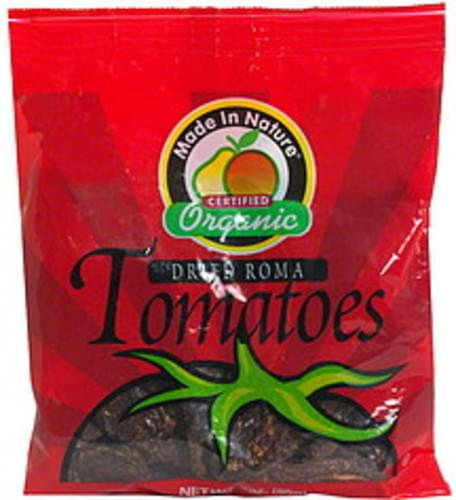 Made In Nature Organic Tomatoes, Dried Roma - 3 oz
