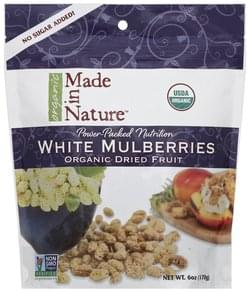 Made In Nature Mulberries White, Organic Dried Fruit