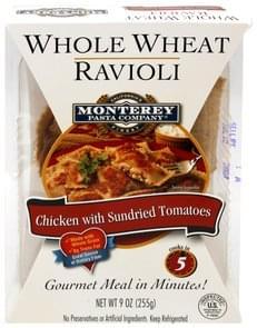 Monterey Pasta Whole Wheat Ravioli Chicken with Sundried Tomatoes