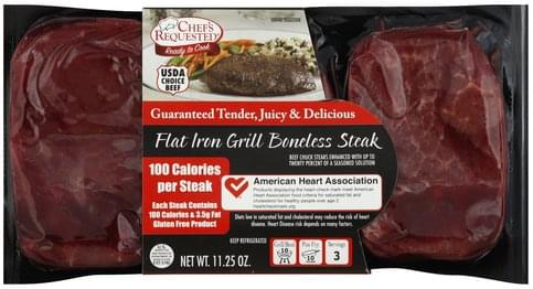 Chefs Requested Boneless, Flat Iron Grill Steak - 11.25 oz