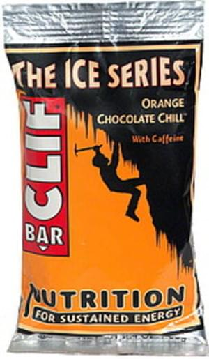 clif bar with caffeine orange chocolate chill nutrition